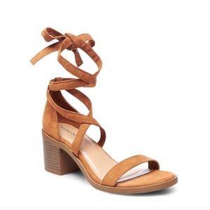 Merona suede lace up heels
